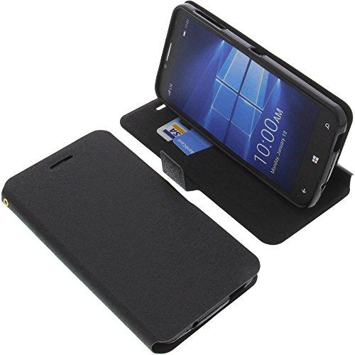 foto-kontor Tasche für Alcatel One Touch Idol 4 Pro Book Style schwarz Schutz Hülle Buch