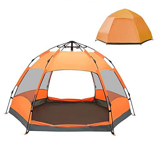 YBWEN Carpa Carpa para Exteriores Carpa para Exteriores automática, Doble Puerta, portátil, para Varias Personas Carpa para Camping (Color : Orange, Size : 240cm*240cm*135cm)