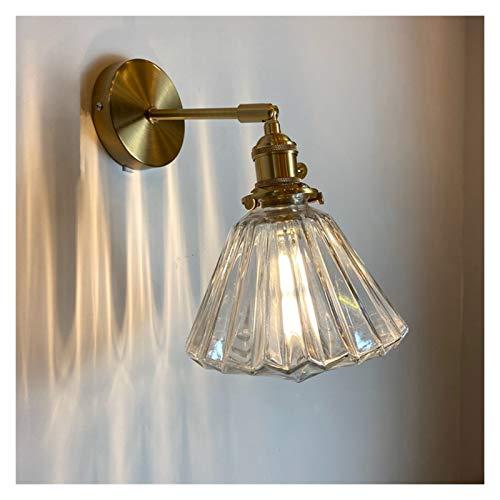 Lámpara de pared Lámpara de pared de vidrio nórdicas decorativas modernas de latón moderno Lámpara de cama de lápiz de lecho de lecho de loft LED LED Lámpara Lámpara Lámpara Lámparas Pasillo interior