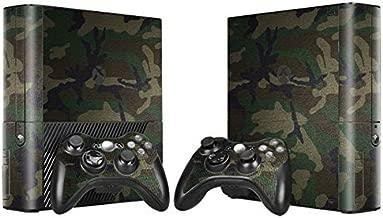 Skin Sticker Decal Cover for Xbox 360 E Console and Remote Controllers Camo Design