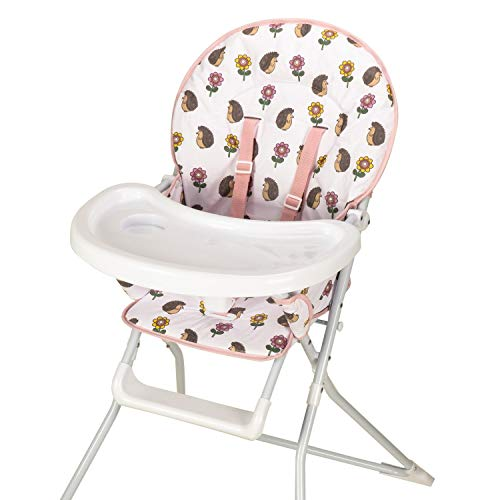 Baby High Chair with Hedgehog Print Padded Seat by Jane Fos