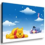 Winnie the Pooh Babyzimmer Leinwand Bild - 100x70cm k.