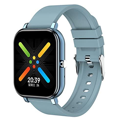 ZGLXZ Men & Women Sports Smart, Watch Impermeable Tasa del Corazón Meter Pedómetro Presión Arterial Bluetooth Android iOS Pulsera,A
