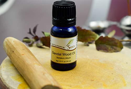 SVATV SANDALWOOD huile essentielle de qualité thérapeutique huile d'aromathérapie diffuseur parfumée huile Yoga Massage et bricolage soins personnels 10 ml