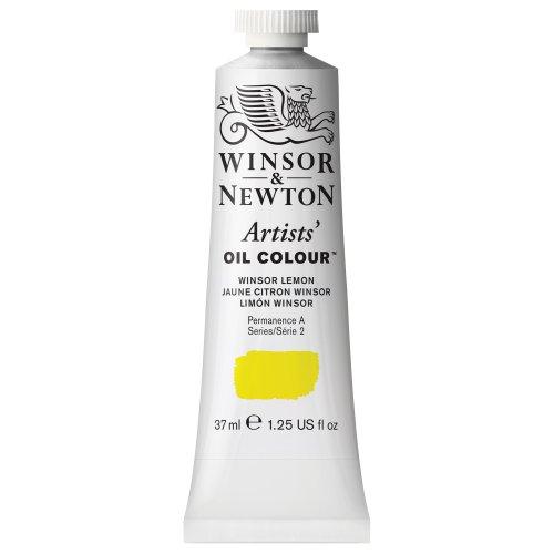Winsor & Newton Artists Oil Colour Paint, 37-ml Tube, Winsor Lemon
