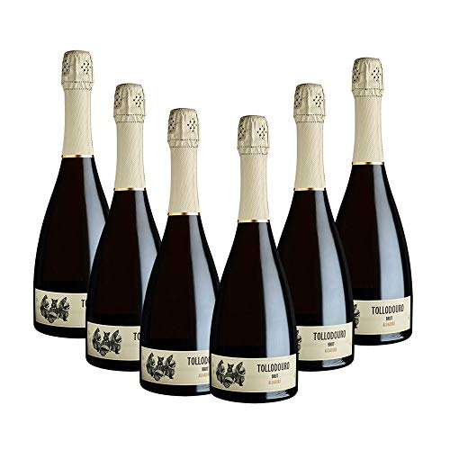 vins&co barcelona Vino Espumoso blanco Tollodouro Brut - D.O. Rías Baixas – Pack 6 botellas Vino Tollodouro Brut – Crianza: 9 meses - 750 ml