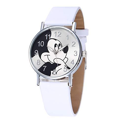 HWCOO Hermoso Relojes de Pulsera Reloj Mickey Mouse de Moda para Mujer Reloj de Dibujos Animados para Estudiantes (Color : 2)