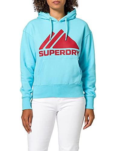 Superdry W2011059a Sudadera con Capucha, Aquamarine, Small para Mujer