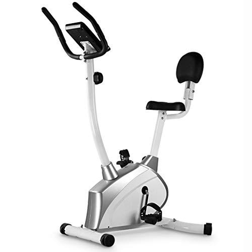 Hometrainers Christopeit Ergometer Magnetische Fiets Voor Thuisgebruik Revalidatiefiets Stille Fitnessapparatuur (Color : Silver, Size : 115 * 60 * 140cm)