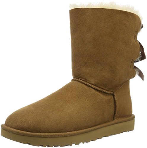 UGG W Bailey Bow II, Stivali Alti Donna, Marrone (Chestnut), 40 EU