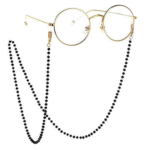 Yinglihua Vouwschoenen Rek Brillen Koord Eenvoudig Ontwerp Volledige Handgemaakte Zwarte Kristallen Bril Ketting Zonnebril Ketting Voor Vrouwen Draagbare Schoen Opslag Rack