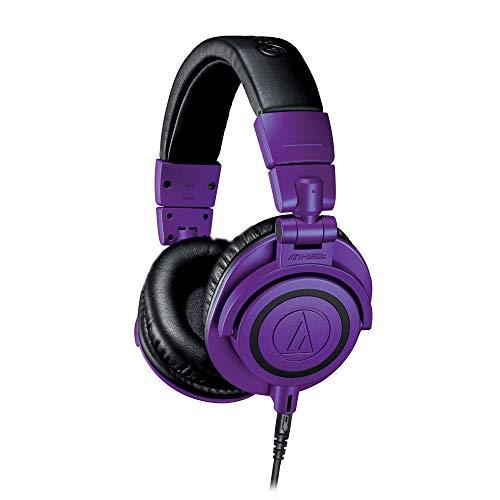 Fones de ouvido Audio-Technica Professional Studio Monitor, Com fio, Purple/Black, Adjustable