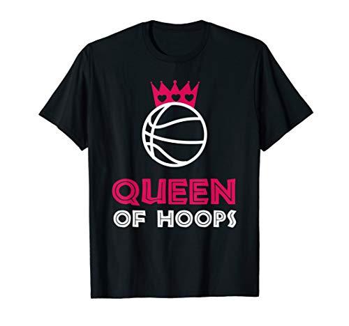 Girls Basketball Queen Hoops Player Coach Fan Gift Idea T-Shirt