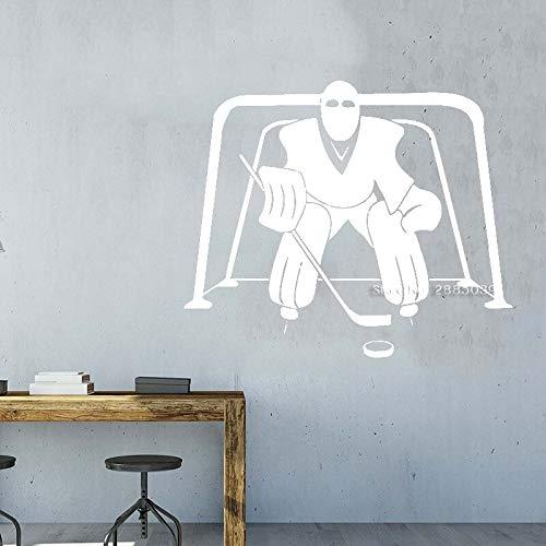 jiushivr Jugendlich Jungenraum-Wandaufkleber des Eishockeyaufklebers Hauptdekorwand ng Hockeykunstvinylaufkleber-Wandaufkleber heiß70x58cm