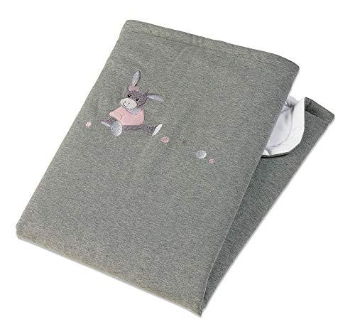 Sterntaler Schmusedecke Esel Emmi Girl, Wattiert, Alter: Für Babys ab der Geburt, 75 x 100 cm, Grau