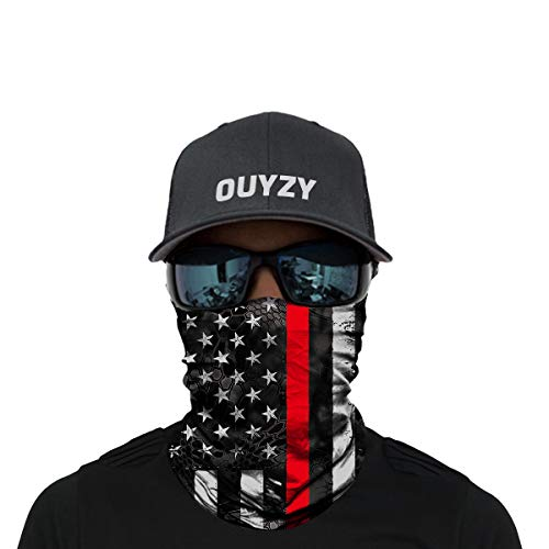 OUYZY Neck Gaiter Face Scarf Cover Mask Sun Bandanas for Fishing Motorcycling