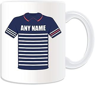 Regalo personaliseitonline - equipo de Estados Unidos taza (diseño de golf tema, blanco) - nombre/mensaje en su único - Ryder Cup 2014 taza uniforme de domingo