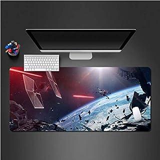 RKZM Star Wars Design Space Combat Mouse Gamer Pad Gaming Mousepad Mat Alfombrillas Grandes para Juegos 30 * 80Cm