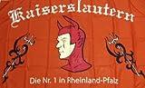 Kaiserslautern Nr.1 Fahne Fanfahne Flagge Grösse 1,50x0,90m - FRIP -Versand®