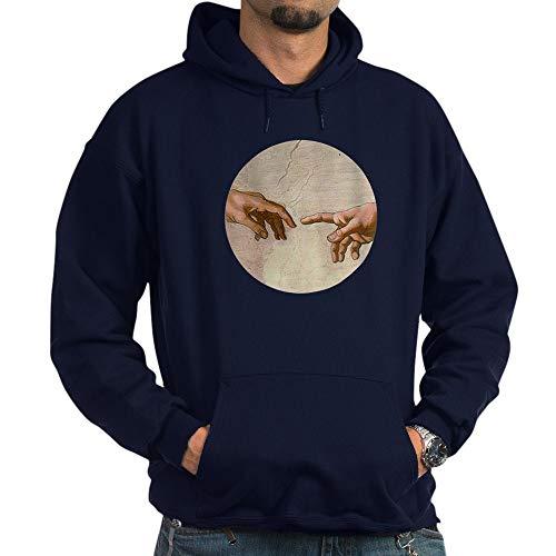 CafePress Michelangelo Creation of Adam Hoodie Pullover Hoodie, Classic & Comfortable Hooded Sweatshirt Navy