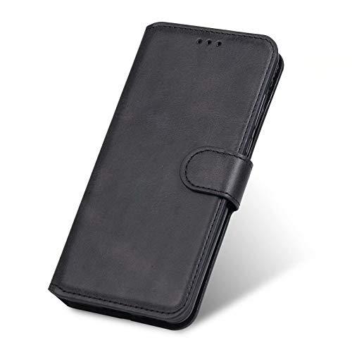XINNY Cover per Xiaomi Redmi Note 8 2021 Custodia, retrò Flip Magnetica Pelle PU TPU Portafoglio, Nero