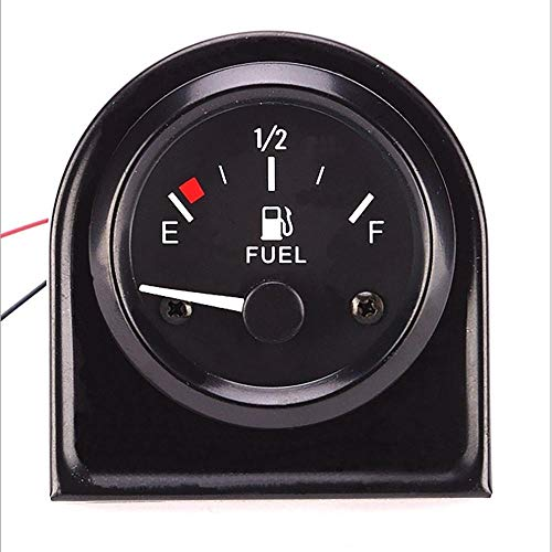 IUEFINUEN Präzisions-Kraftstoffanzeige 12V Auto-Tuning Montage Racing Fuel Gauge Modified Schwarz Präzisionskraftstoffanzeige mit Floaten Auftanken Muster