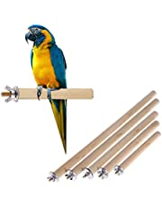 """Sage Square Set of 5 Natural Habitat Wooden Perch/Stand/Toy for Birds Budgie/Cockatiel/Parrot/Hamster/Squirrel (Light Weight) (Sizes - 4.5"""", 6.5"""", 8.5"""", 10.5"""",12.5"""")"""