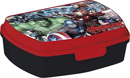 ALMACENESADAN 2040 Sandwichera Restangular Multicolor Avengers Gallery; Producto de plástico; Libre BPA; Dimensiones Interiores 16,5x11,5x5,5 cm