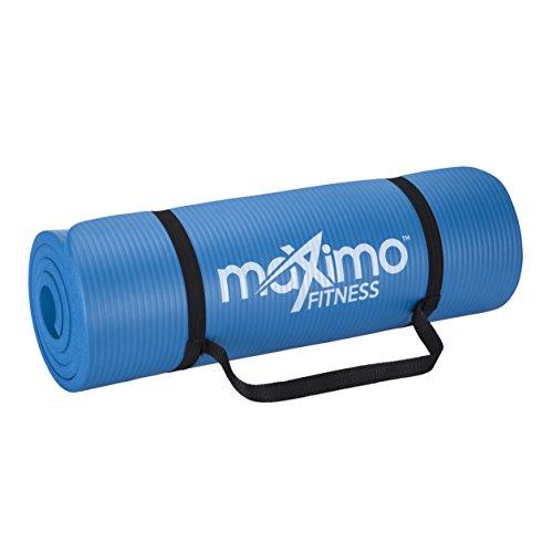 Maximo Fitness Colchoneta para Ejercicios Extra Gruesa - Colchoneta Antideslizante para Gimnasio 183 cm Largo x 60 cm Ancho x 1.5 cm Espesor Pilates, Yoga, Ejercicios para el Piso.