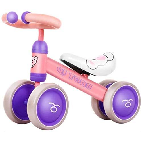 Kinder Balanced Bike - Ausgewogene Fahrrad-Rad for Jungen und Mädchen Lernen Bike 12-Zoll-Leicht Pedal-Free Trainings Bike 1-3 Jahre alt (Farbe: Pink) (Color : Pink)