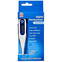 Rite Aid Digital Thermometer for Fever with Large Display | Medical Thermometer