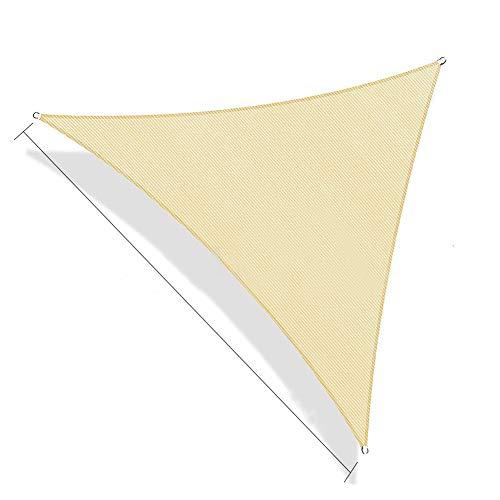 Firlar シェード オーニング 紫外線98%カット UVカット シェード セイル つっぱり式 サンシェード スクリーン 撥水 耐久性 庭·テラス·バルコニー用 イチオリシェード 矩形 正三角形