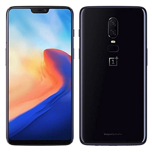OnePlus 6 A6000 64GB/6GB Mirror Black - Dual Back Cameras, Face & Fingerprint Identification, 6.28', Android 8.1 - International Version - No Warranty in The USA - GSM ONLY, NO CDMA
