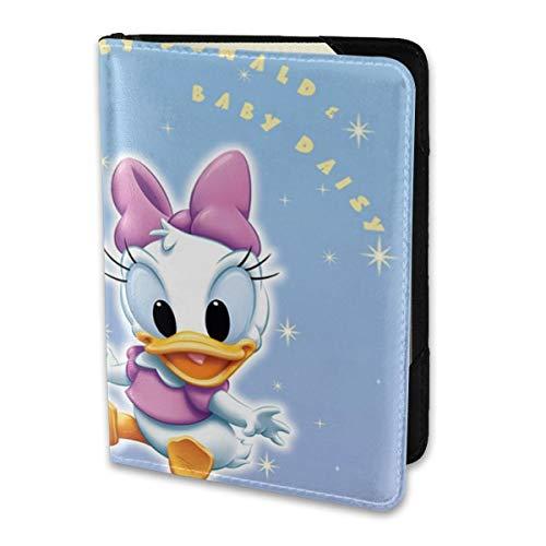 Étui de Passeport en Cuir pour Homme et Femme Donald Duck et Daisy