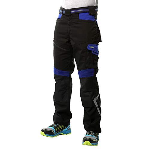Goodyear Workwear GYPNT010 - Pantalones de trabajo para hombre, con bolsillos y bolsillos, color negro/azul real, talla 42 Regular