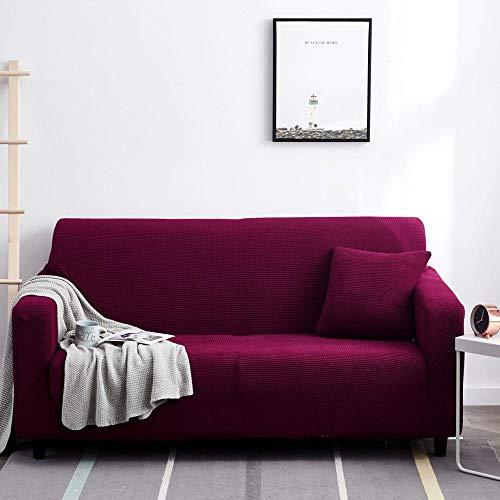 Fsogasilttlv Funda Ajustable Universal para sillón y sofá Funda de Almohada de Color Morado Oscuro, Fundas de Almohada Decorativas de poliéster, Fundas de Almohada 45 * 45 cm 1 PCS