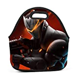 Omega Armor Rifle Neoprene Lunch Bag, Portable Insulated Lunch Box Container - Durable Thermal Lunch Tote Thick Outdoor Travel Picnic Snacks Organizer for Womens Boys Girls and Mens