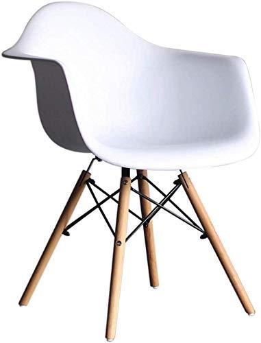 Esszimmerstuhl, HYX002 komputerowy fotel wypoczynkowy, Bürostuhl, Verhandlungsstuhl, biuro domowe, nordycki minimalistyczny Stil, Kunststoff mit Rückenlehne, mit Sessel (Kolor: Weiß)