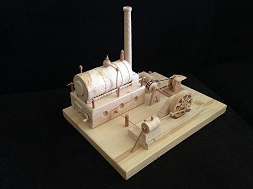 Dampfmaschine aus Holz