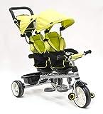 Triciclo Evolutivo Gemelar QPlay Giro - Verde - De 10 a 36 meses - Peso máximo soportable 50kg