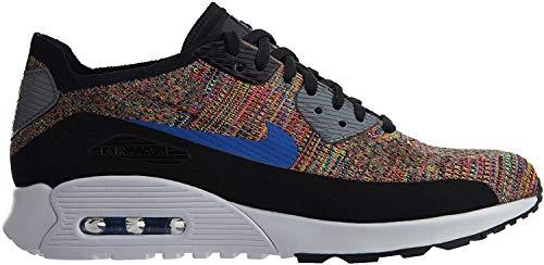 Nike - Air Max 90 Flyknit Ultra 20 - 881109001 - Farbe: Blau-Rot-Schwarz - Größe: 37.5