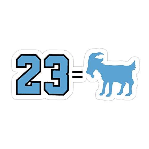 VMSTYLES (3 Pcs/Pack) 23 = Goat Jordan Greatest of All Time 3x4 Inch Die-Cut Stickers Decals for Laptop Window Car Bumper Helmet Water Bottle