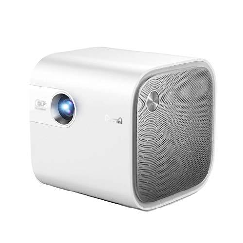 Proiettore portatile Proiettore intelligente portatile Proiettore pico per la camera da letto della casa (Color : SILVER, Size : 11 * 11 * 11CM)