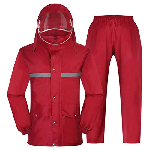 Suits Rainwear Split Rainwear Motorcycle Cycling Raincoat Raincoats Women'S Suit Raincoat Transparent Hat Grid Lining Design Waterproof And Breathable Highlight Reflective Strip Rainy Day Out Cycling
