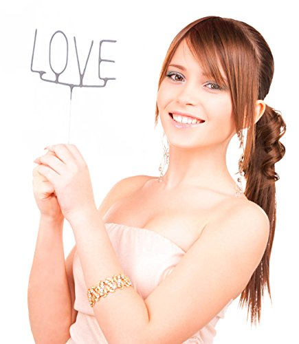 Wunderkerze * LOVE * in SILBER als funken-sprühende Liebes-Deko für Va