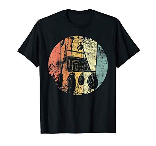 Rentner Rollator Retro Rente Ruhestand Vintage T-Shirt