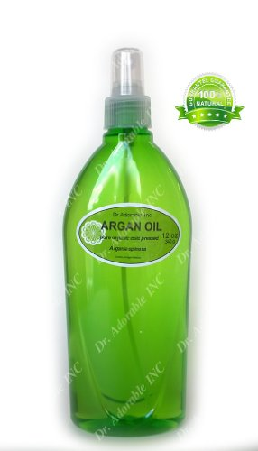 100% Pure Organic Argan Oil for Skin Hair Face & Nails Comes with a Sprayer 12 oz
