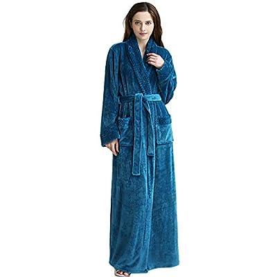 Unisex Premium Fleece Robe, Luxurious Plush Spa Bathrobe Waffle Design