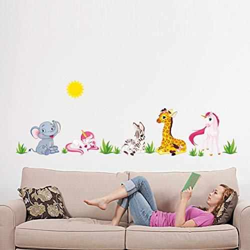 TYOLOMZ Forest Animal Cartoon Muurstickers voor kinderkamers Kleuterschool Paard Olifant X012 Home Decor DIY Wallpaper Art Decals