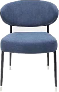 Lwieui Sillas de Comedor Moderna Silla de Comedor Cafe Comedor Respaldo Silla de la Sala de Estar y Comedor Sillas de Comedor Cocina (Color : Azul, Size : 56x62x77cm)